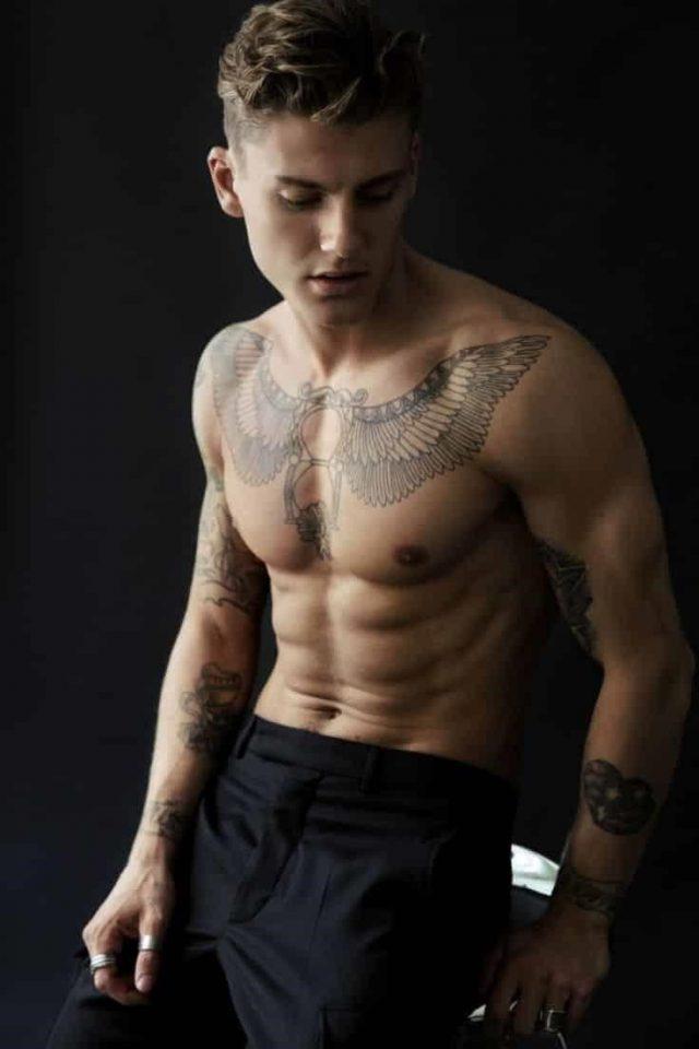 Chest tattoo 17