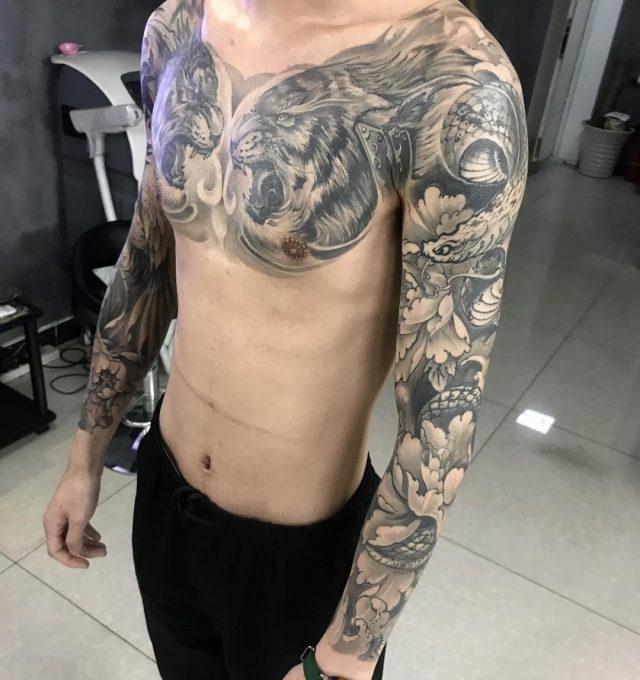 Chest tattoo 25111874