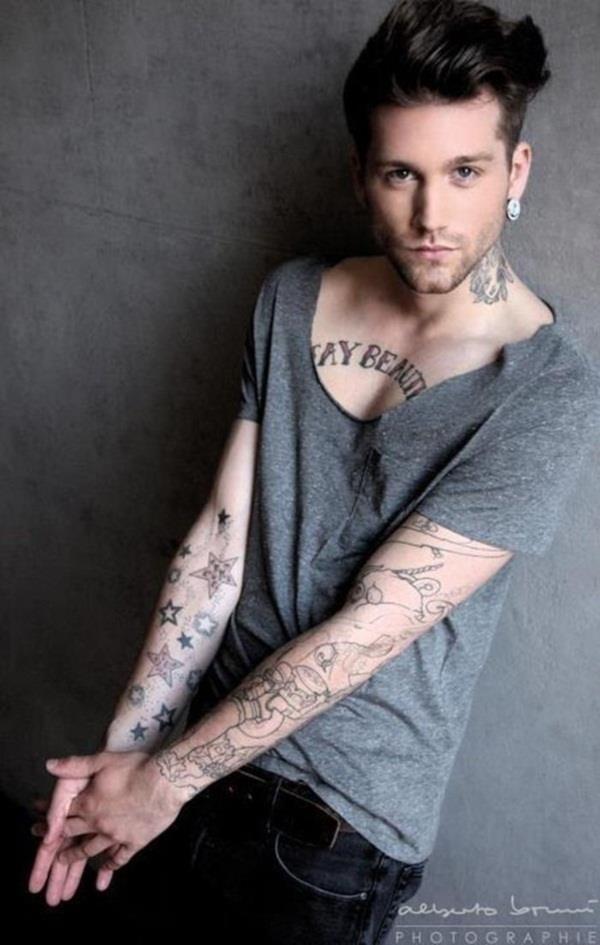 Chest tattoos for men 100