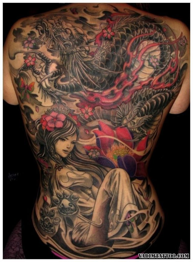 Chinese dragon tattoo 04