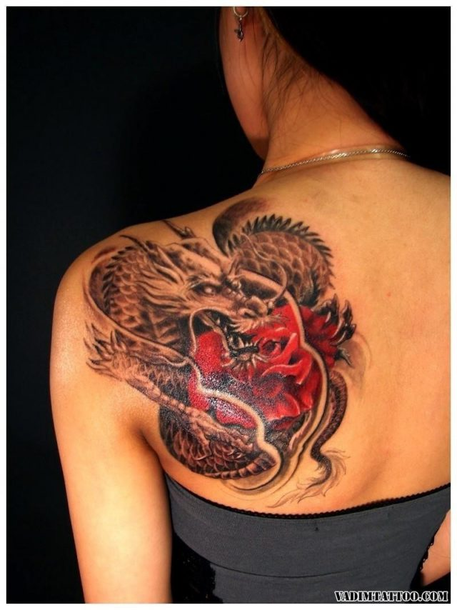 Chinese dragon tattoo 09
