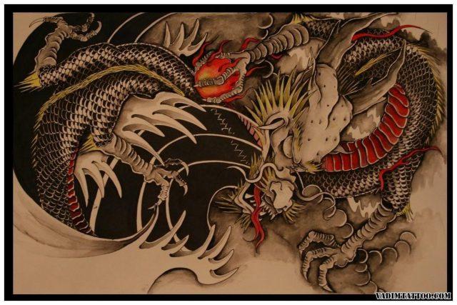 Chinese dragon tattoo 10