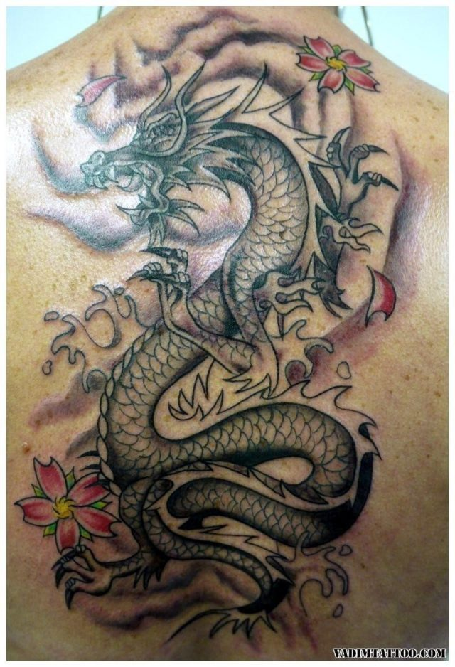 Chinese dragon tattoo 17