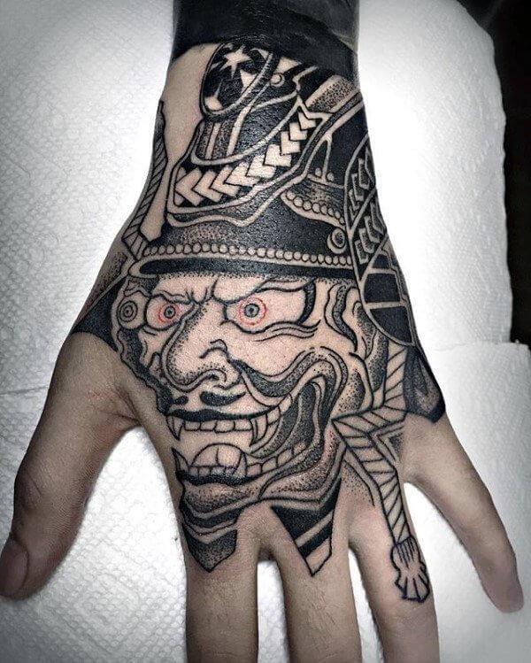 Chinese hand tattoo 1