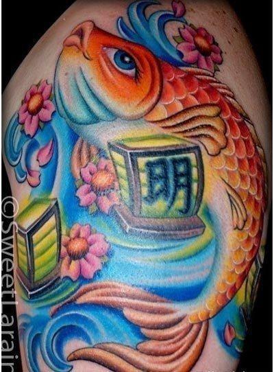 Chinese koi fish tattoo