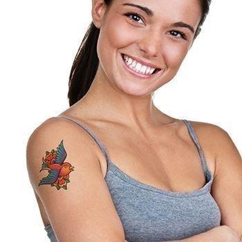 Classic vintage bird fake tattoo a