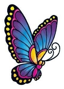 Classic vintage butterfly fake tattoo