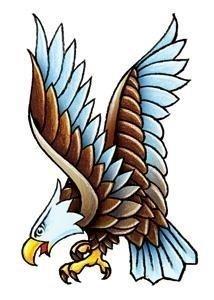 Classic vintage eagle fake tattoo