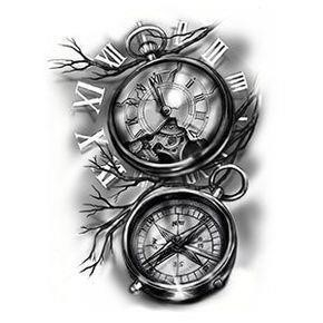 Clock sketch tattoo 11