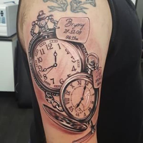 Clock tattoo designs 80