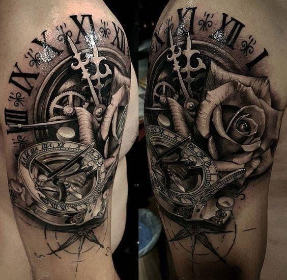 Clock tattoos 37