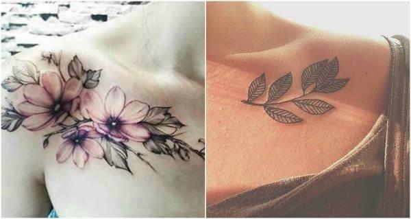 Collarbone tattoos flower w600 h600