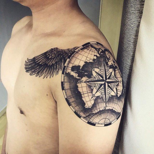 Compass tatto 166