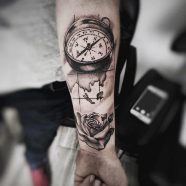 Compass tatto 171