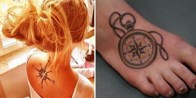 Compass tattoo design000