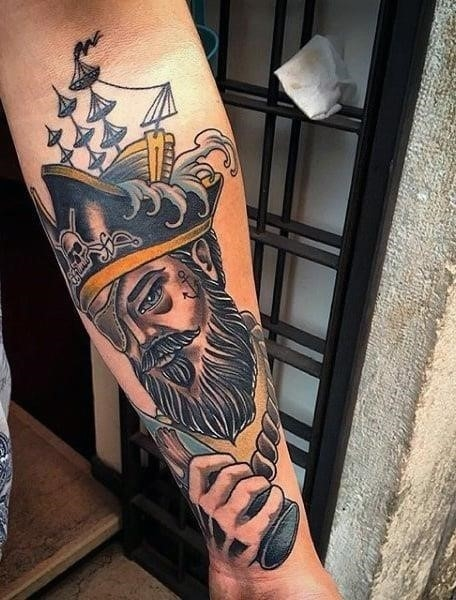 Cool mens pirate tattoos