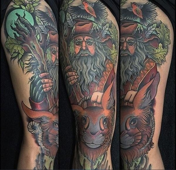 Cool mens radagast lord of the rings arm tattoos