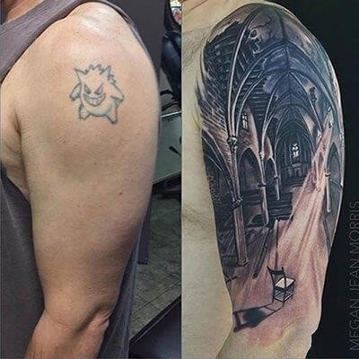 Cover up tattoo detailed