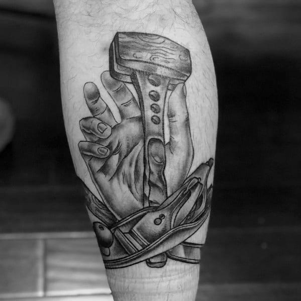 Creative carpenter tattoos for guys