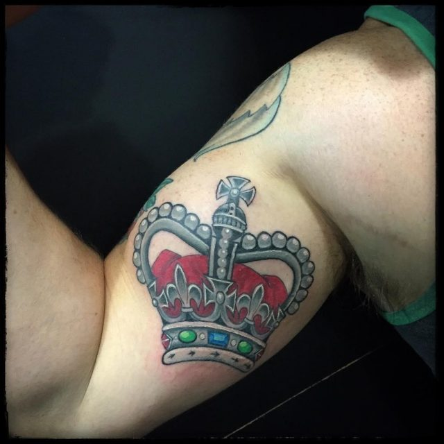 Crown tattoo 4