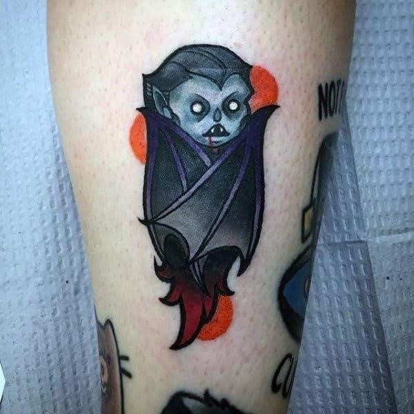 Cute baby ghost halloween tattoo male ankles