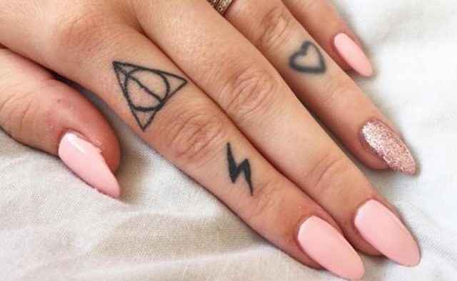 Cute finger tattoos