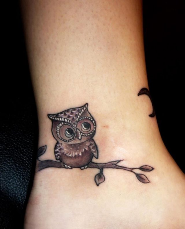 Cute owl tattoo idea 827×1024