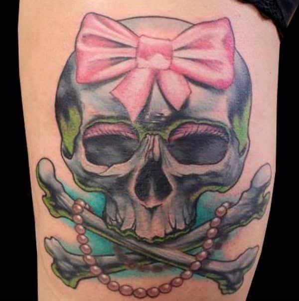 Cute skull tattoo 7