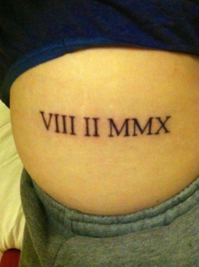Dc000a795b1924718b0321fa7f6de323  number tattoo fonts roman numbers tattoo