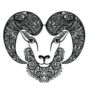 Decorative aries tattoo