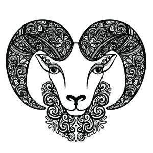 Decorative aries tattoo