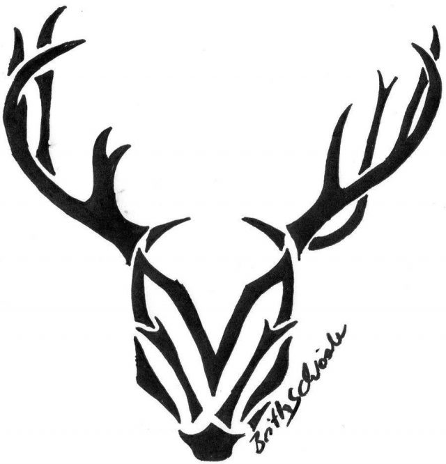 Deer skull drawing tribal deer head tattoos