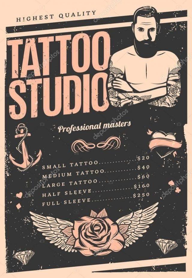Depositphotos 153234802 stock illustration vintage tattoo studio poster
