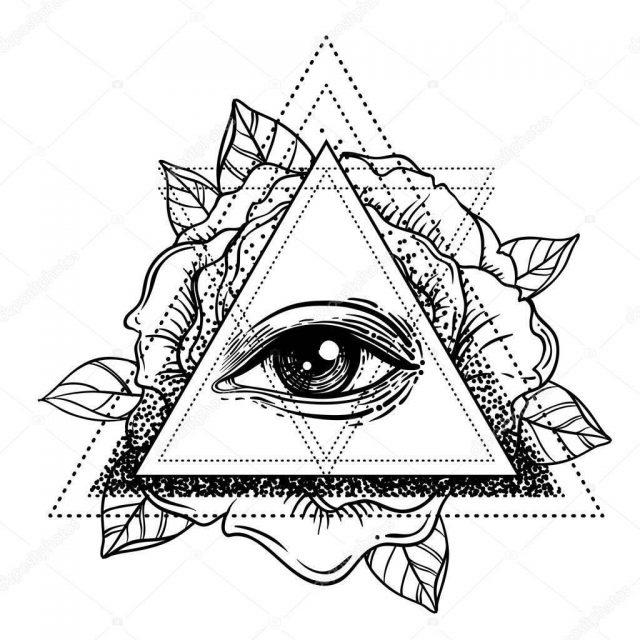 Depositphotos 155167000 stock illustration rosicrucianism symbol blackwork tattoo flash