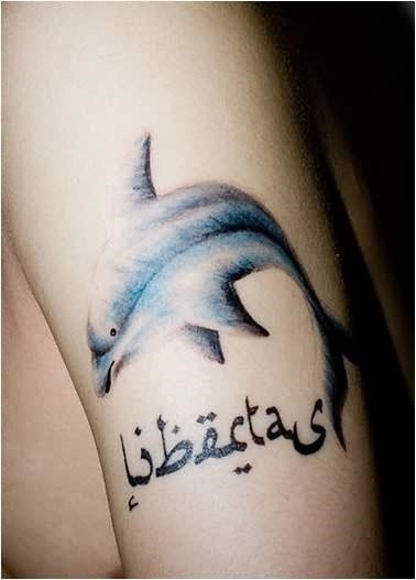 Dolphin simple tattoo 2