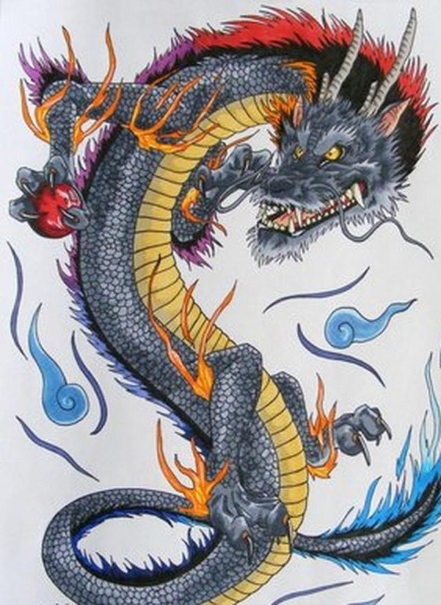 Dragon japanese tattoo design