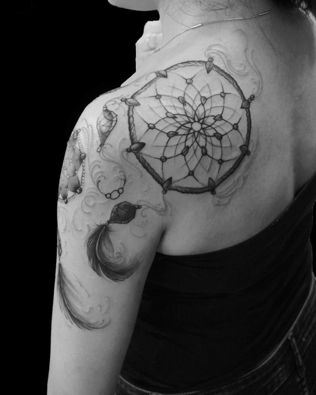Dream catcher tattoo 53