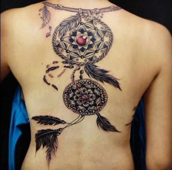 Dreamcatcher tattoos ideas designs