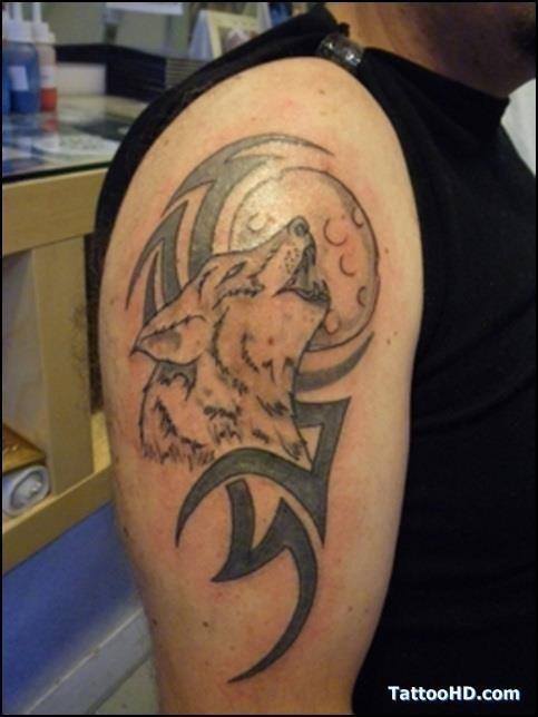 Dreamcatcher wolf tattoos