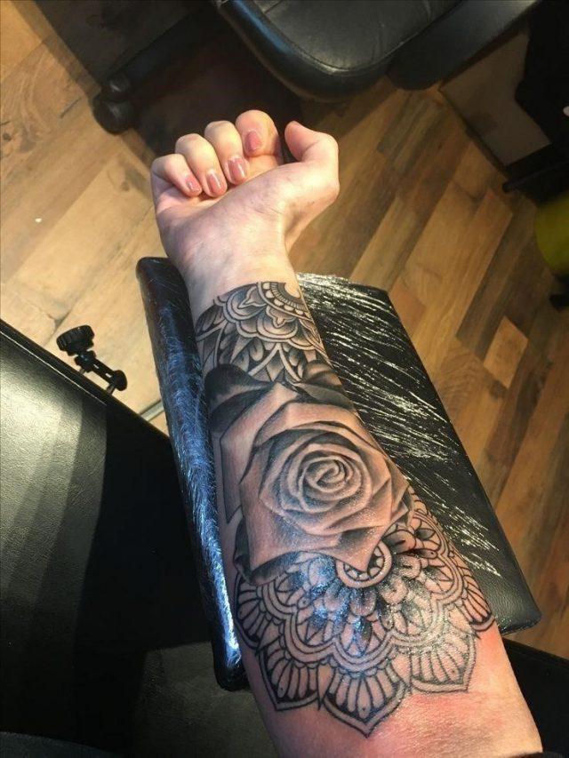 Ea4ca486ad5fea0592129a68cd88a19a  womens sleeve tattoo ideas mandala rose tattoo sleeve