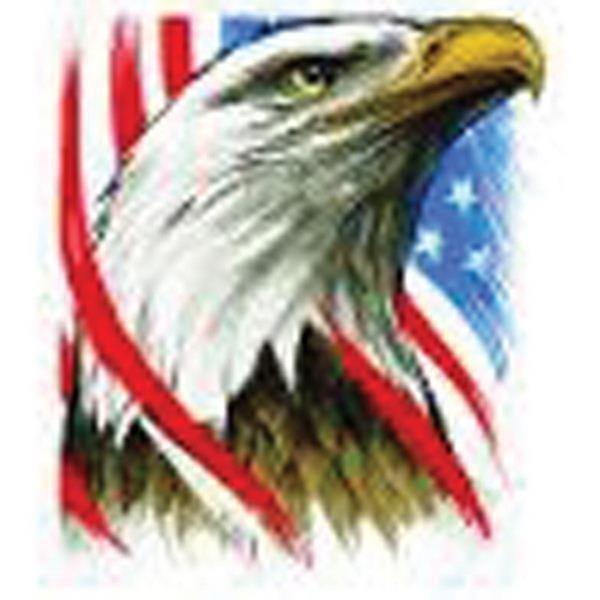 Eagle and flag freedom temporary tattoo 1