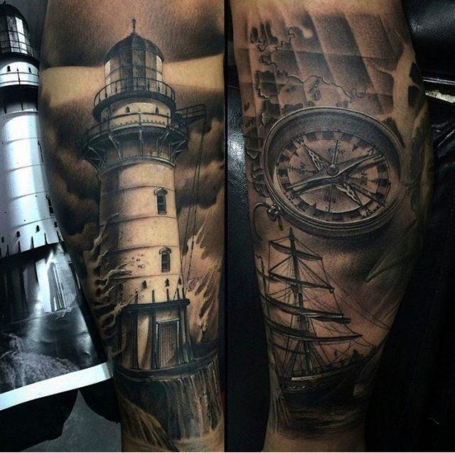 Ebd507d330f85da20cba89012ac28157  james tattoo lighthouse tattoos