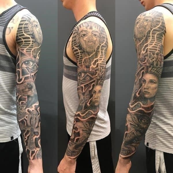 Egyptian arm tattoo 10