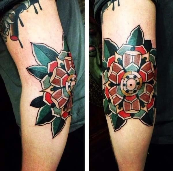 Elbow tattoo for men 08