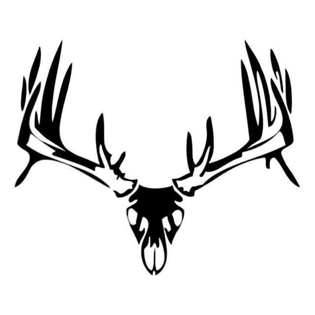 Elk skull silhouette 1