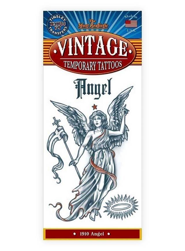 Engel vintage klebe tattoo  mw 130087 1