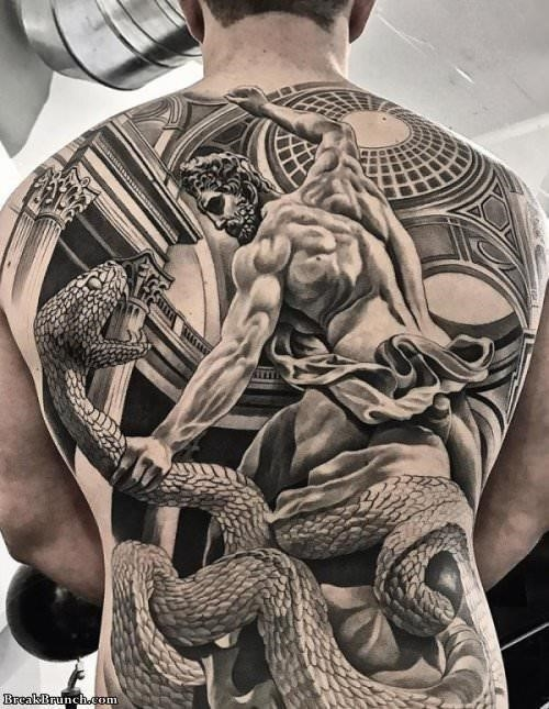 Epic full back tattoo 091219 1