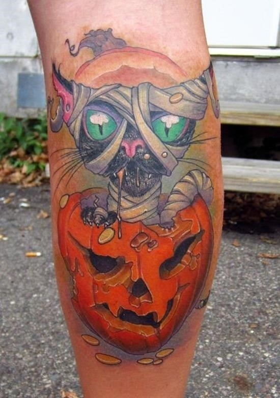 Evil pumpkin tattoo 7