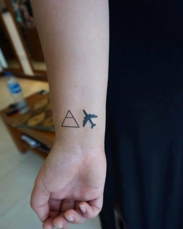 Explore and travel tattoo