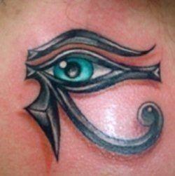 Eye of horus tattoo protection symbol tribal design history egyptian egypt body art1